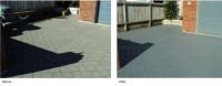 Before and after with our colour charging. Colour charging your concrete happens when colour concrete sealer has worn, a sealer revier with normally take care of this.