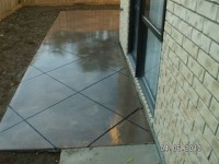 This colour pathway was given a high gross sealer finish, we use sand grip, cut into squares
